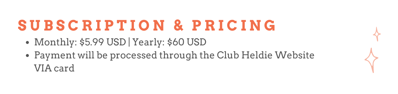 Club Heldie Subscription & Pricing