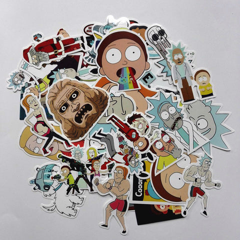 35 Pieces / Bag of Rick and Morty Stickers