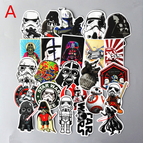 25 Pieces / Bag of Star Wars Stickers