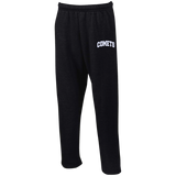 Comets Leg Embroidery G123 Gildan Open Bottom Sweatpants with Pockets