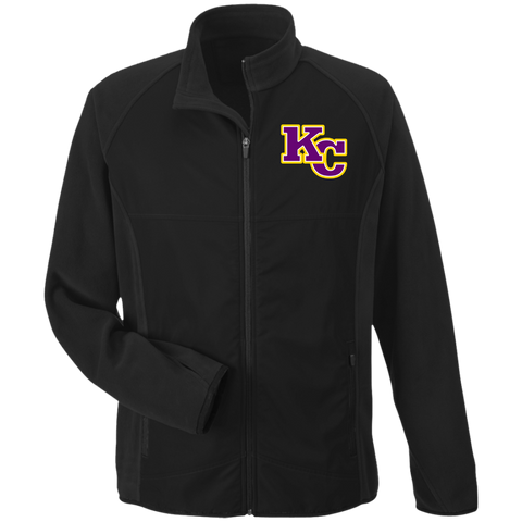 KC Big Block Embroidery TT92 Team 365 Microfleece with Front Polyester Overlay Jacket