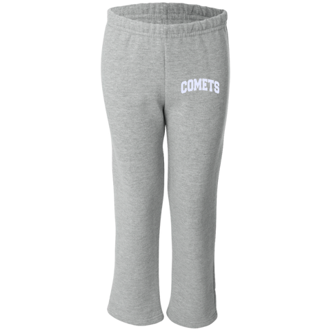 Comet Leg Embroidery G184B Gildan Youth Open Bottom Sweatpants
