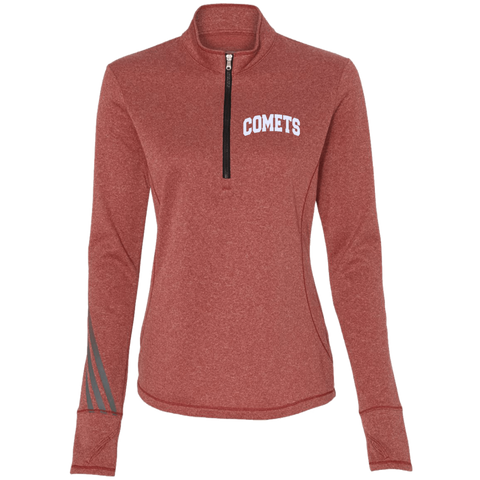 Comets Embroidery A275 Adidas Ladies' Terry Heather 1/4 Zip
