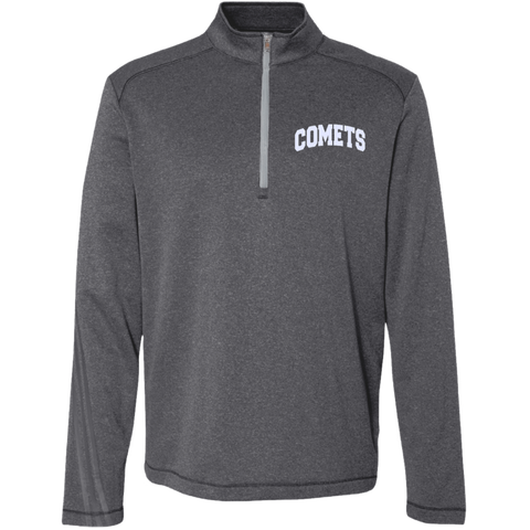 Comets Embroidery A274 Adidas Men's Terry Heather 1/4 Zip