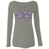 Purple Camo NL6731 Next Level Ladies Triblend Long Sleeve Scoop