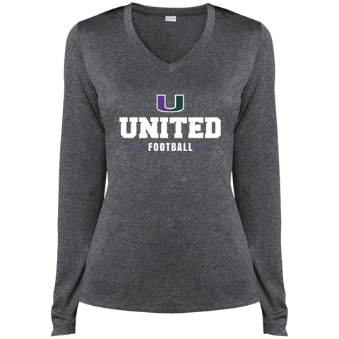 United LST360LS Sport-Tek Ladies' LS Heather Dri-Fit V-Neck T-Shirt