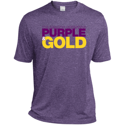 Purple & Gold ST360 Sport-Tek Mens Heather Dri-Fit Moisture-Wicking T-Shirt