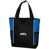 COMETS Embroidery B5160 Port Authority Colorblock Zipper Tote Bag