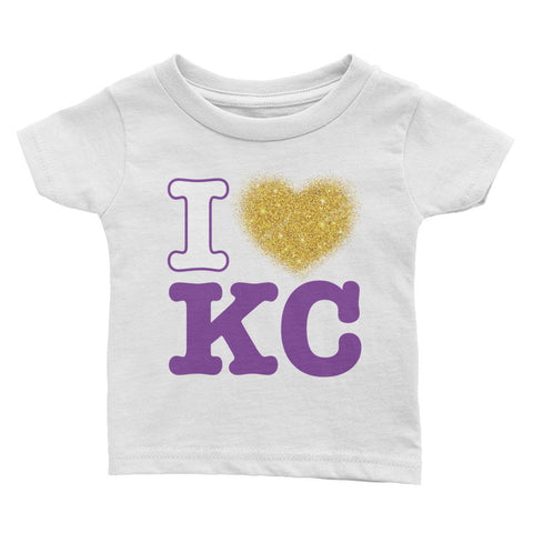 I Heart KC Rabbit Skins 3401 Infant Cotton Jersey Tee