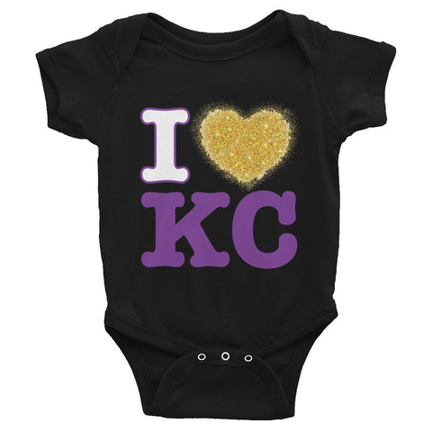I Heart KC Rabbit Skins 4400 Infant Baby Rib Bodysuit