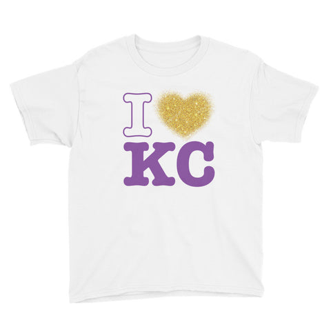I Heart KC Anvil 990B Youth Lightweight Fashion T-Shirt with Tear Away Label