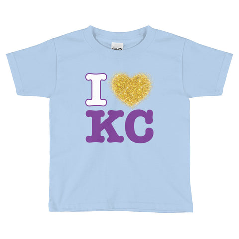 I Heart KC Gildan 5100P Heavy Cotton Toddler T-Shirt w/ Tear Away Label