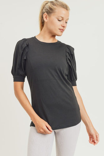 Midi Puff Sleeve Top (More Colors)