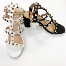 Studded Ankle Strap Heel (More Colors)