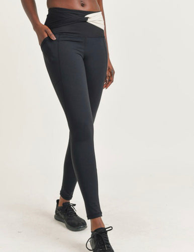 Split Twisted High Waist Leggings