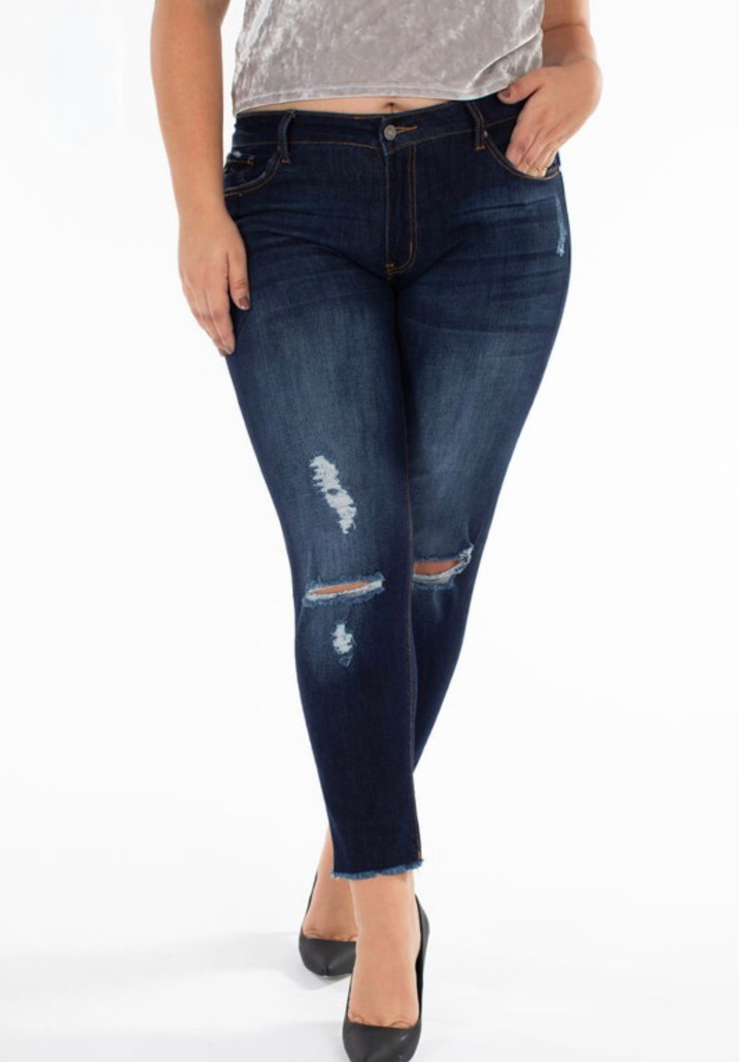 KanCan Mid Rise Ankle Skinny (Plus Size)