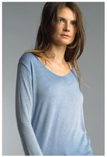 Blue Knit Tee w/Metallic Trim