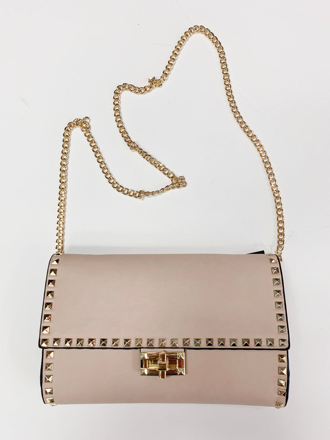 Studded Clutch/Crossbody Bag
