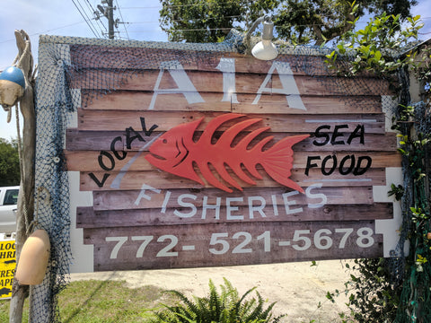 A1A Fisheries Market Sign
