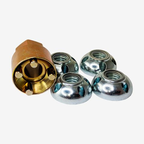 Anti-Theft Security Nuts Four Lock Nuts One Tool Lightforce