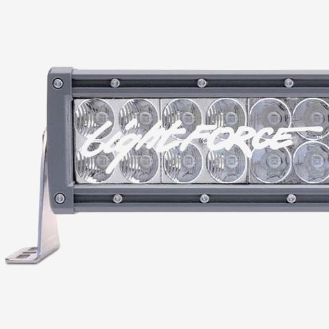 10 Inch LED Light Bar Dual Row Straight Flood Beam Lightforce