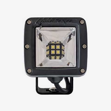 2 Inch Utility LED Light Dual Row 10 Watt Chips Ultra Flood Beam Pair W/Harness ROK40 Lightforce