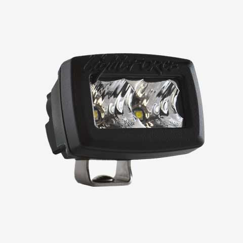 2 Inch Utility Light Single Row 5W Chips Flood Beam Black Fascia ROK10 Lightforce