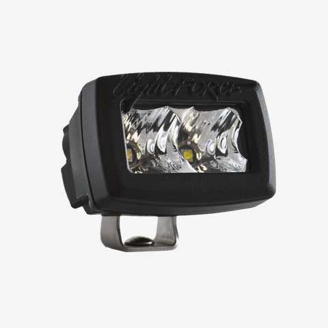 2 Inch Utility Light Single Row 5W Chips Spot Beam Black Fascia ROK10 Lightforce