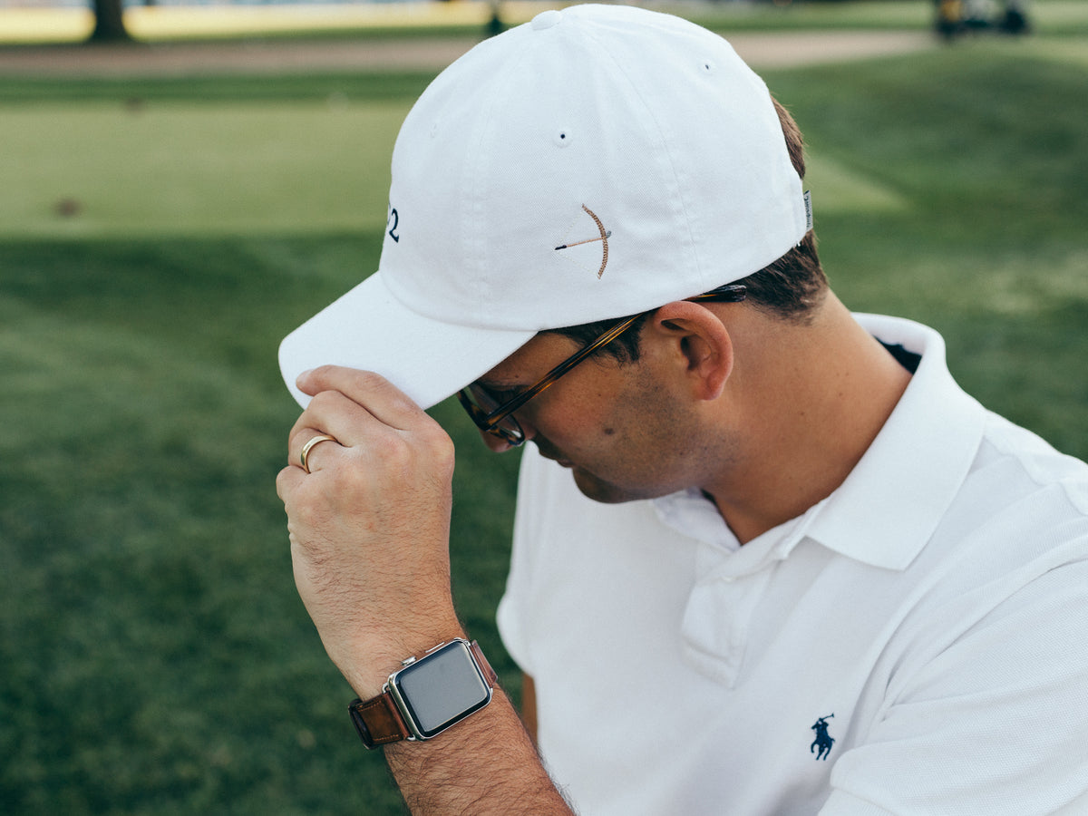 Classic Twill Golf Hat - White