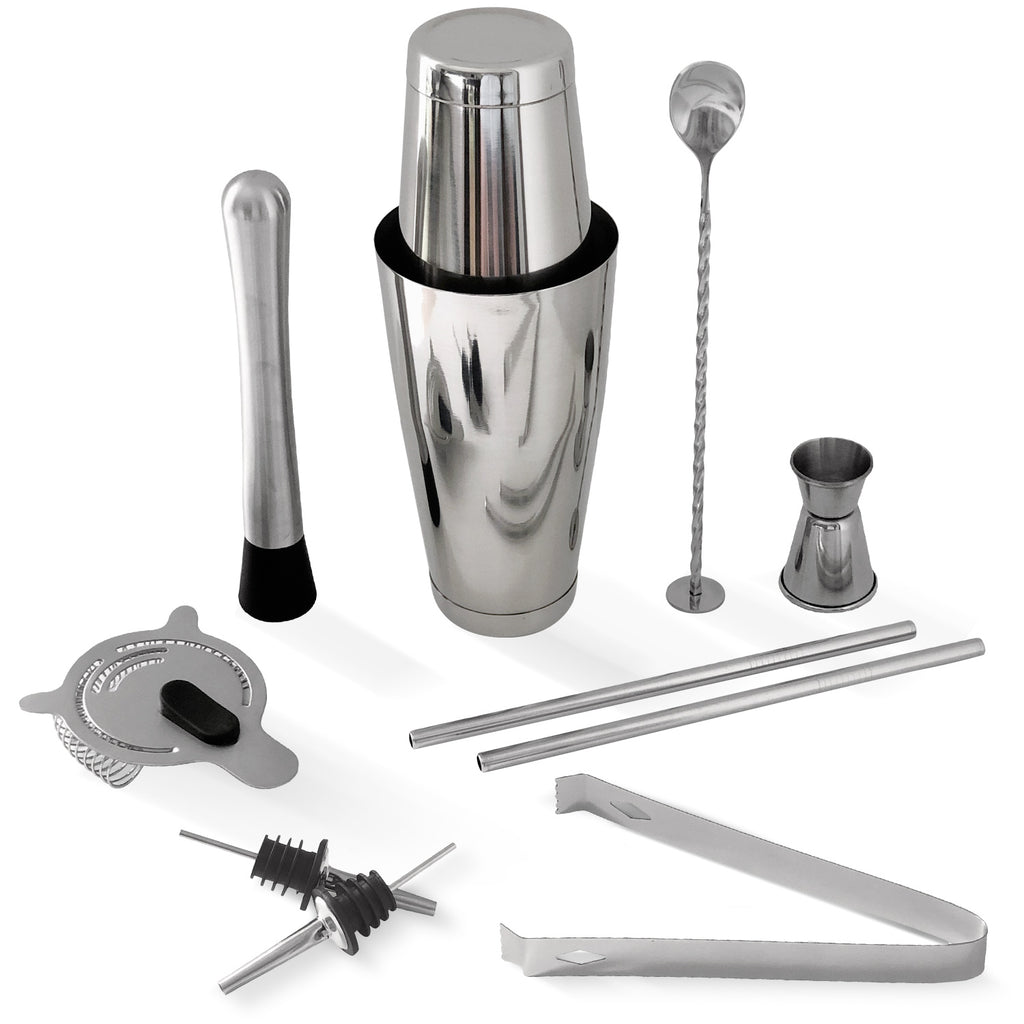 10-Piece Bar Tool Set with Recipe Bonus-Home Euphoria