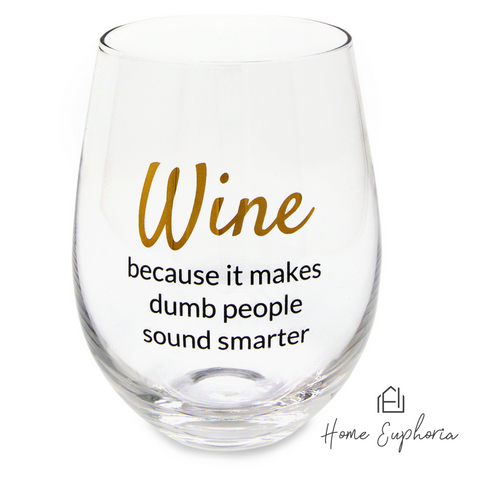 Image of Witty Stemless Wine Glasses