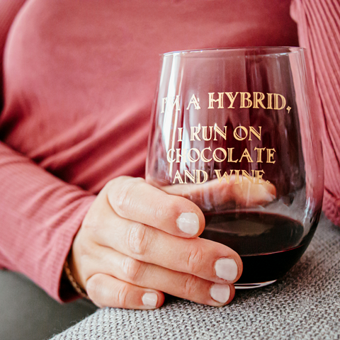 Image of Hybrid | Stemless Funny Wine Glass