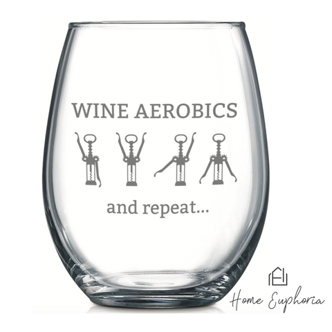 Witty Stemless Wine Glasses