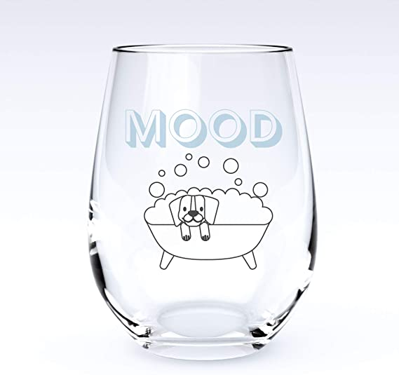 Mood | Stemless Funny Wine Glass-Home Euphoria