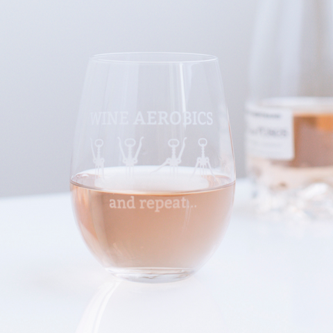 Wine Aerobics Stemless Wine Glass