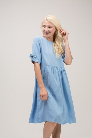 Indigo Exchange | Take Me Away Smock Dress in Denim