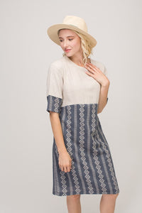 Indigo Exchange | Portland Linen Shift Dress in Navy