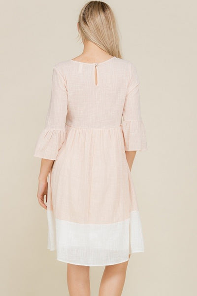 Indigo Exchange | Color Block Dress in Blush