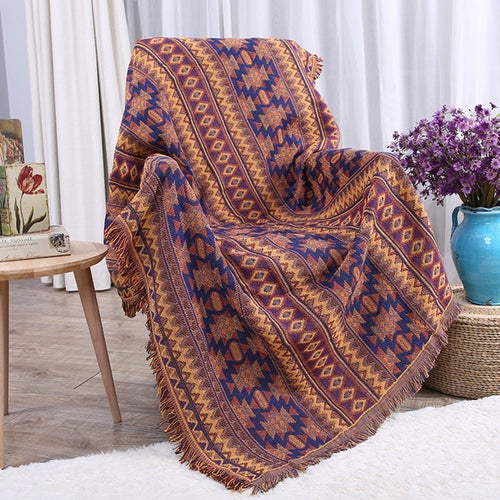 Thick Boho Blanket Sofa Slipcover Throws Sofa Bed Plane Travel Blankets