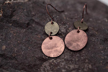 Antique Gold Pendant Earrings