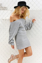 Batwing Sleeve Sweater Dress
