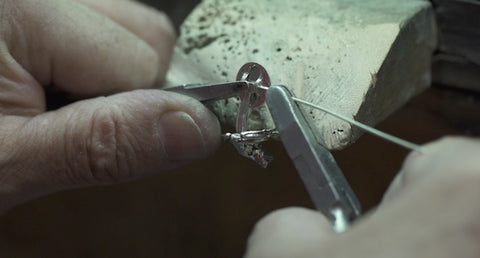 cufflinks assembled by hand