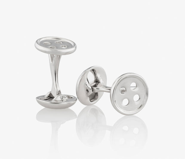 Buttons Luxury Cufflinks in Silver handcrafted Fils Unique The Salinger