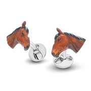 Stewball Rhodium Plated  Cufflinks