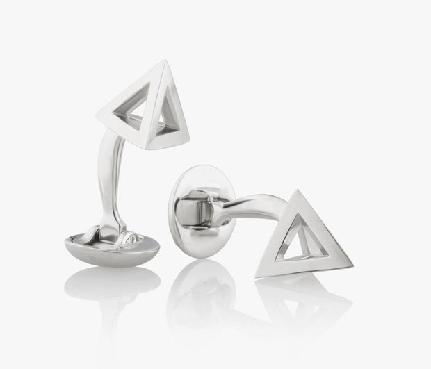Pyramids Cufflinks in Silver handcrafted Fils Unique KHUFU