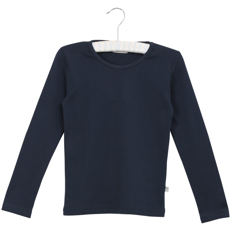 Navy Basic Boys Long Sleeve Tee