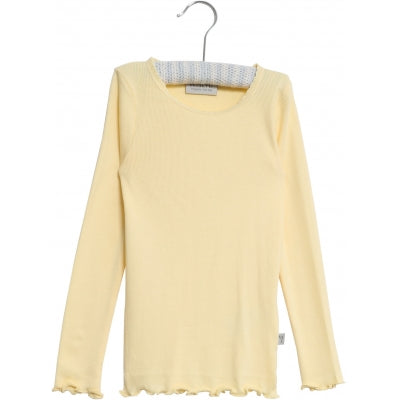 Rib Long Sleeve Top - Lemon Curd