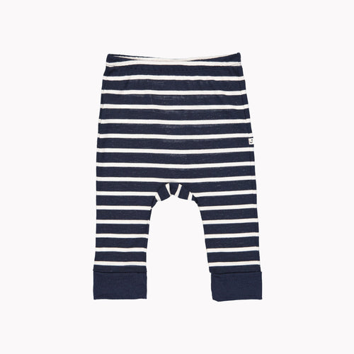 Mello Merino Mini Slouch Pant - Navy Stripe
