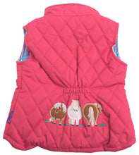 Pony embroidered vest- pink