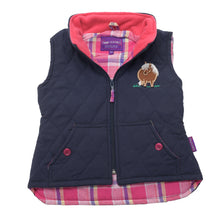 Pony embroidered vest- Navy